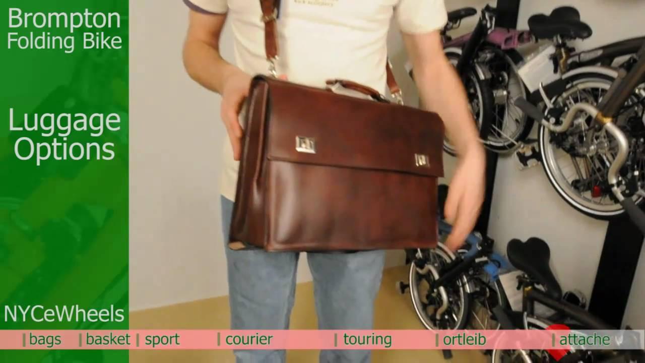 Brompton Folding Bike Luggage Bags Youtube