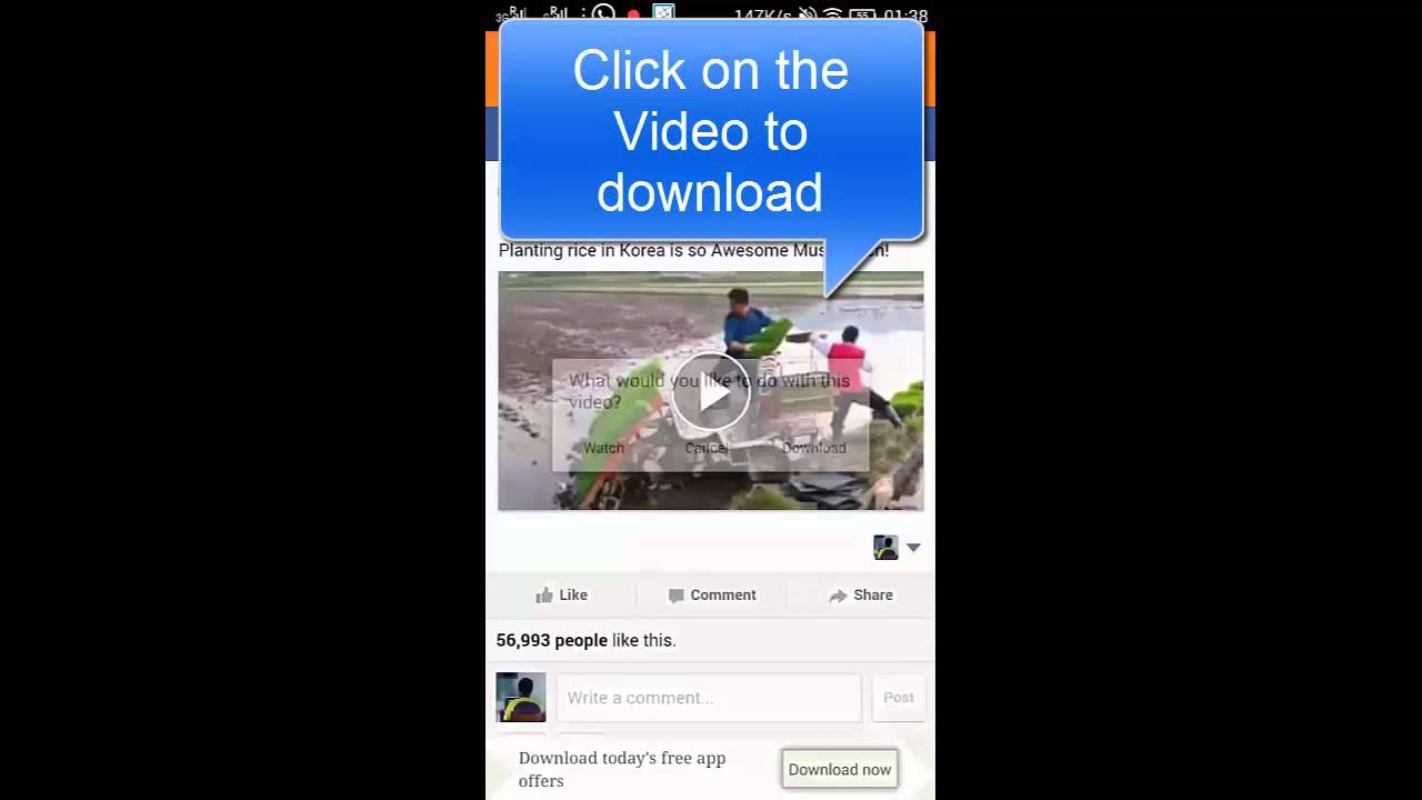 Phone Download Facebook On Android Phone how to download facebook video on android phone youtube phone