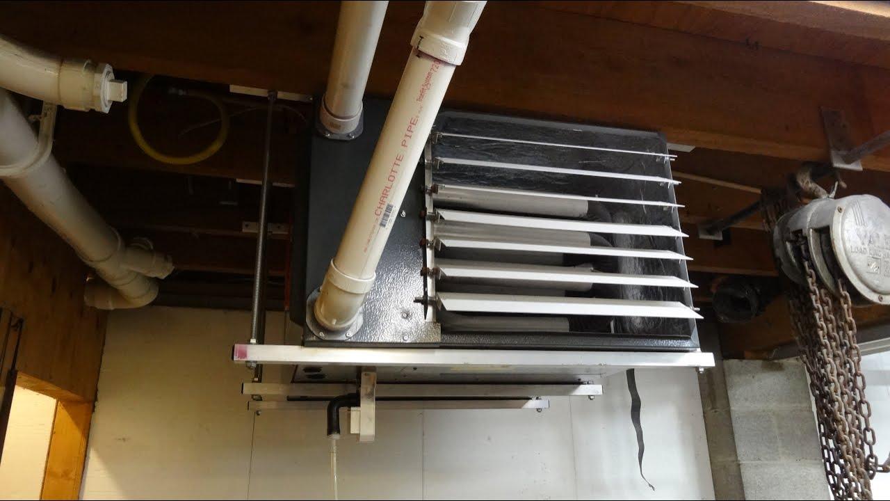 diy one person garage heater ceiling installation [ 1280 x 720 Pixel ]