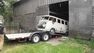 vw bus barn find rescue