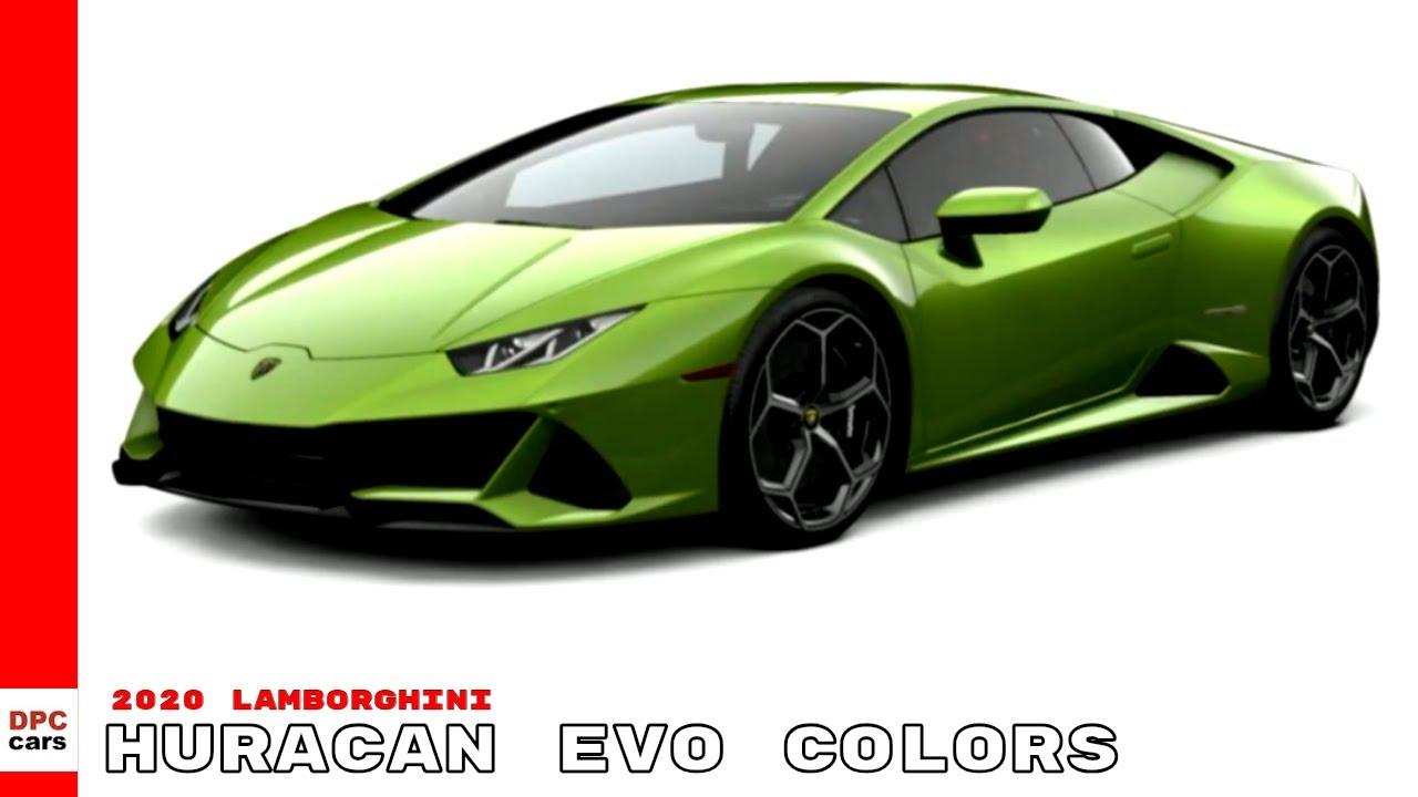 2020 Lamborghini Huracan Evo Colors Youtube
