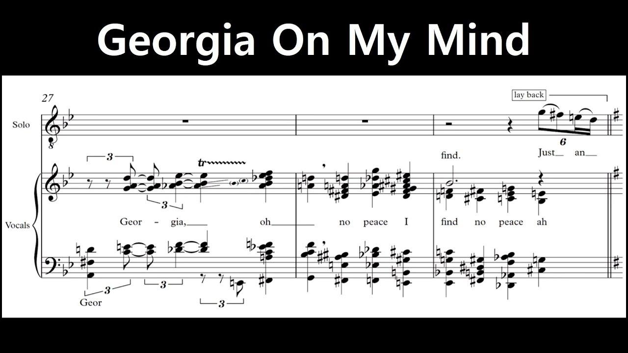 Jacob Collier Georgia On My Mind Full Transcription Youtube
