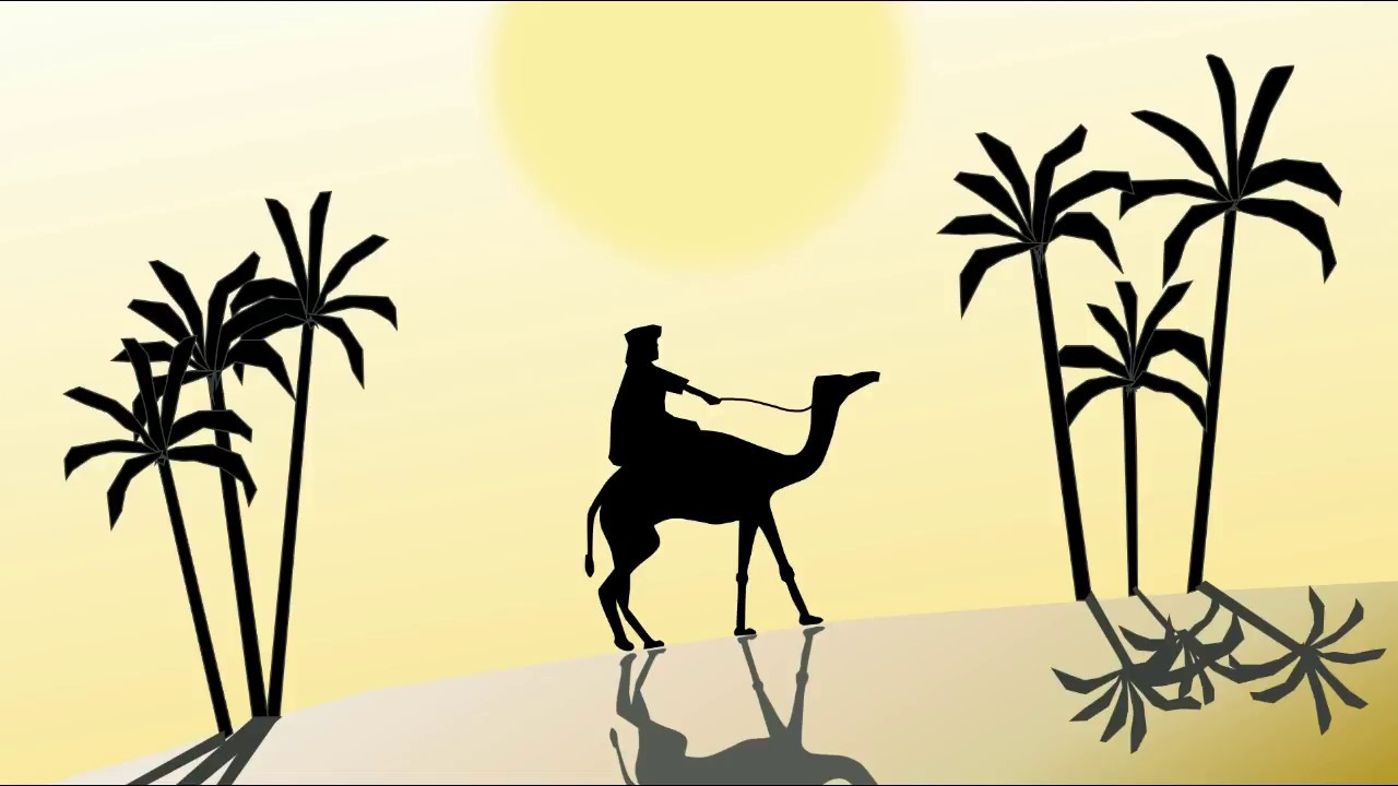 How to draw #Sahara scenery step by step  camel in a desert  #PowerPoint