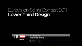 Eurovision Song Contest 2011 - Lower Third Design Recreation
