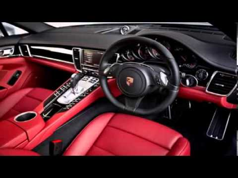 Porsche Panamera White Red Interior 2