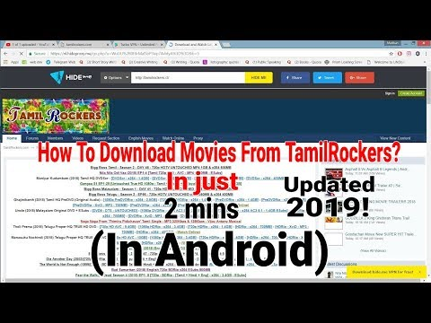 How to download new movies from TamilRockers ? 2019 100