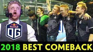 BEST COMEBACK of 2018 — BEST HYPE cast by Tobiwan OG vs LGD TI8