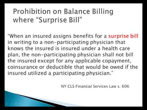 NY's Surprise Law - Avoiding Surprise Bills with recommended policies and procedures