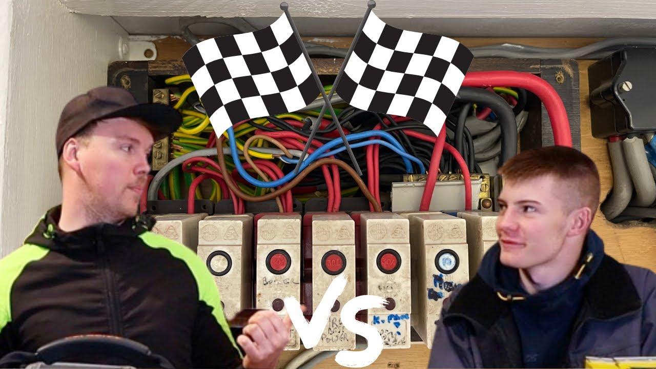 Boss VS Apprentice Fuseboard change race!! - Electrician