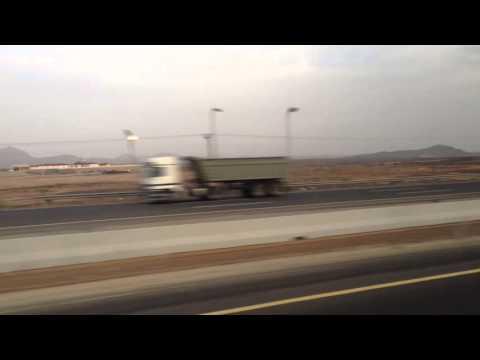 Driving from Madinah to Makkah in Saudi Arabia