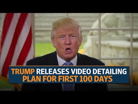 Trump releases video detailing plan for first 100 days
