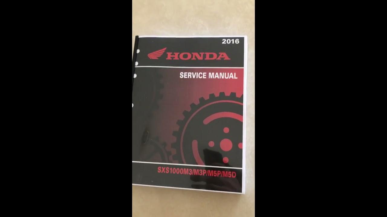 Honda Pioneer 1000 Service   Shop Manual