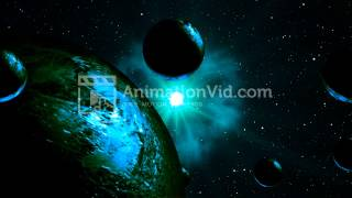 Asteroid Belt Animation Background