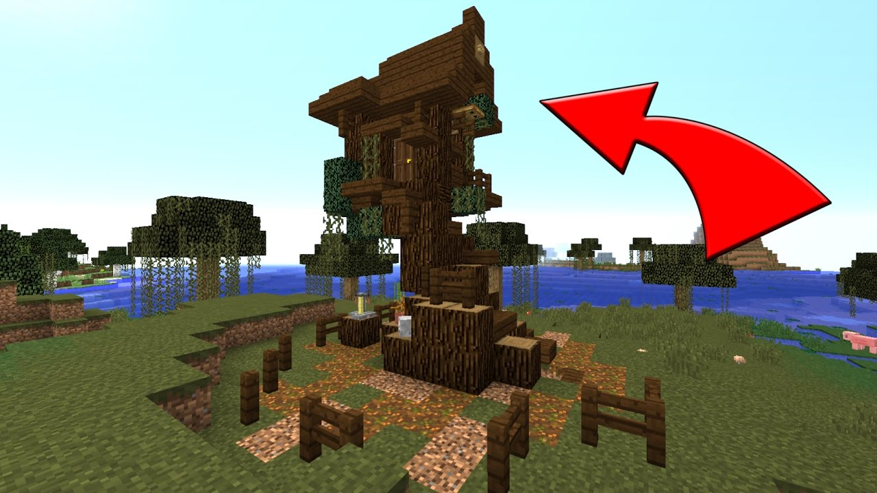 Minecraft How To Build A Witch Hut / Survival House / Easy