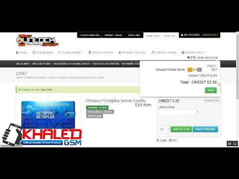 How To Bay Octopus Credits Server From MYUNLOCKSHOP COM