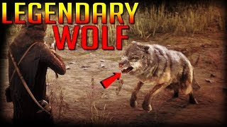 Legendary Wolf Attack in Red Dead Redemption 2 You have to see this!