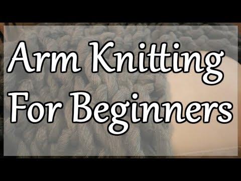 30 Minute Chunky Blanket   Arm Knitting for Beginners