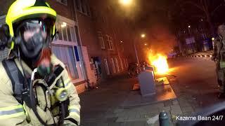Brandweer Prio 1 Autobrand, Rotterdam