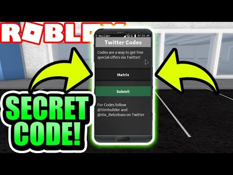 SECRET* MY SPECIAL CODE in ROBLOX Vehicle Simuator! (Roblox