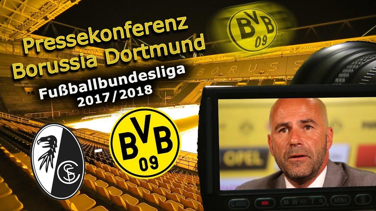 SC Freiburg - Borussia Dortmund: PK mit Peter Bosz