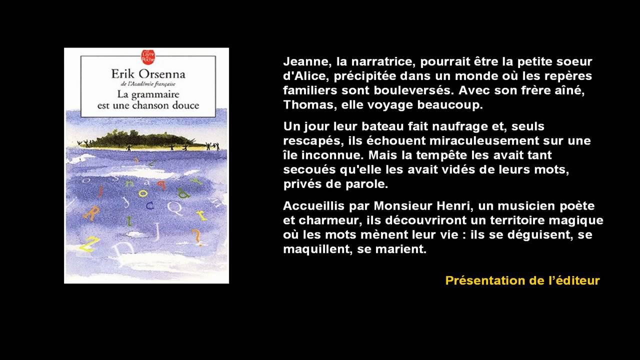 Livre La Grammaire Est Une Chanson Douce YouTube