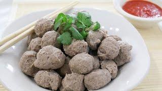Asian Style Beef Meatballs ลูกชิ้น เนื้อ - Episode 48