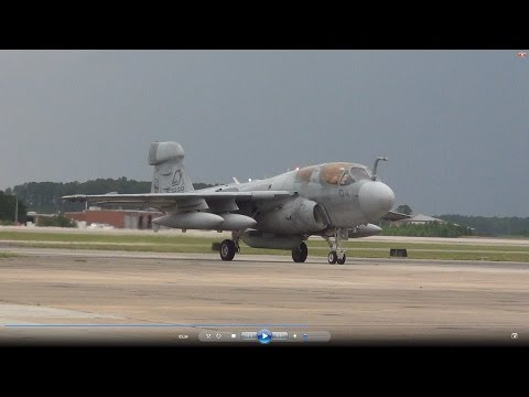 Marine Corps EA-6B Prowler Demo- 2014 MCAS Cherry Point Airs