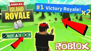 WINNING MY 2 FIRST ROBLOX FORTNITE GAMES EVER! *Alpha Access Giveaway* - Roblox Island Royale