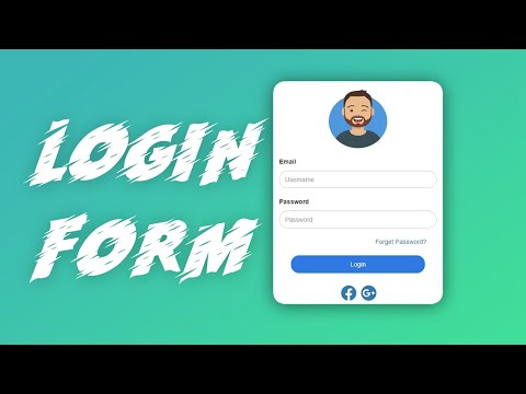 Awesome Login Form In HTML & CSS | Create Responsive Login Form In HTML, CSS & Bootstrap| Login From
