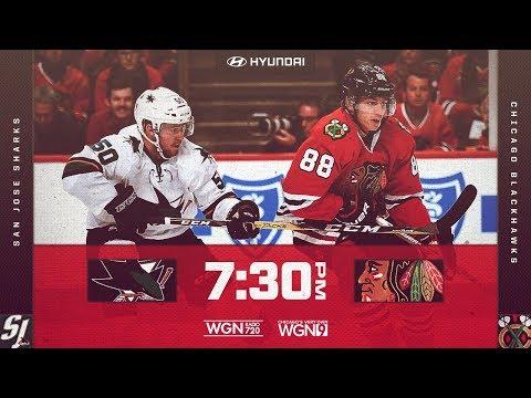 NHL 18 PS4. REGULAR SEASON 2017-2018: San Jose SHARKS VS Chicago BLACKHAWKS. 02.23.2018. (NBCSN) !