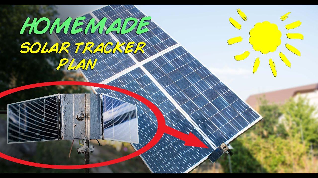 homemade solar tracker plan youtube