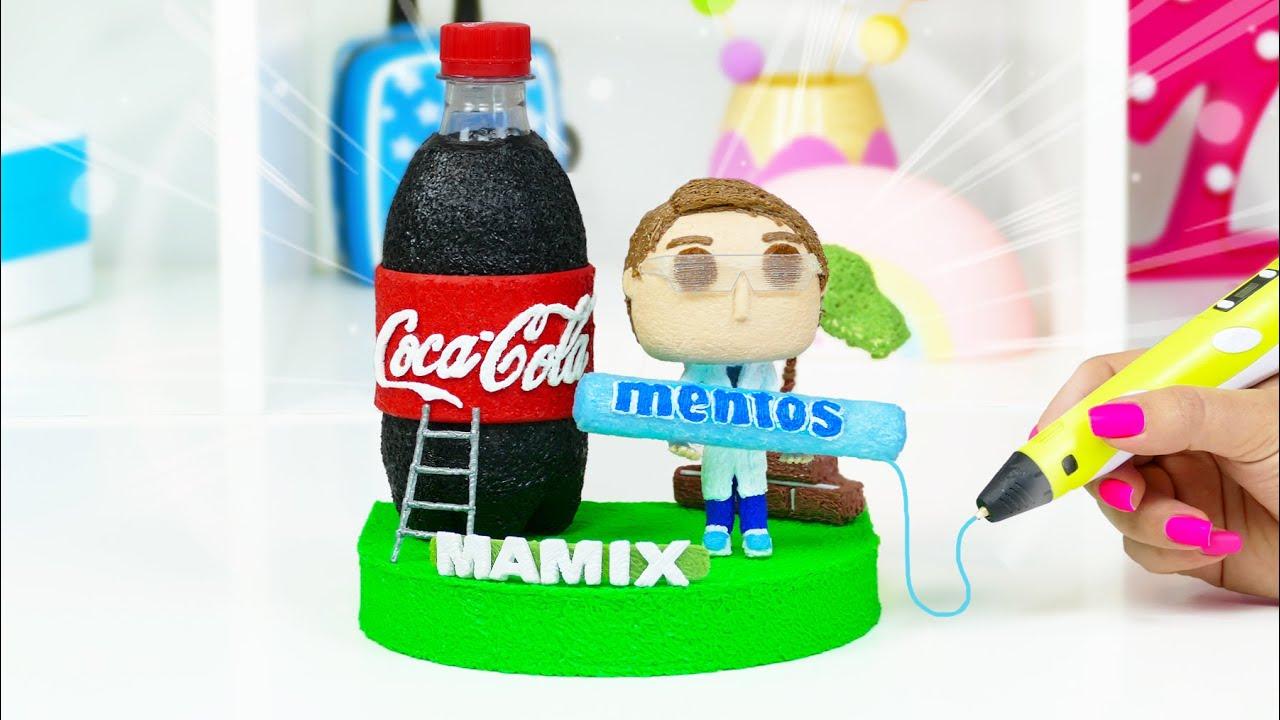 МАМИКС КОКА КОЛА vs МЕНТОС рисую 3D Ручкой / ПРИДУМАЛА  Фигурки ФАНКО ПОП как из МАГАЗИНА