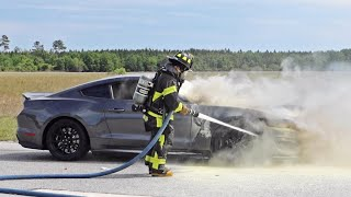 Watching my Mustang GT350 Burn to the Ground...
