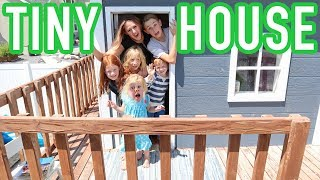 24 HOURS IN A TINY HOUSE!! We got Pizza Delivered from PIZZA DELIVERY GUY!!!
