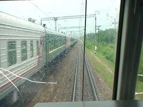 Москва-Орёл-Москва (поезд 243/244) из кабины.