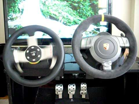 Fanatec Porsche GT3RS V2 vs Logitech G27 calition - YouTube