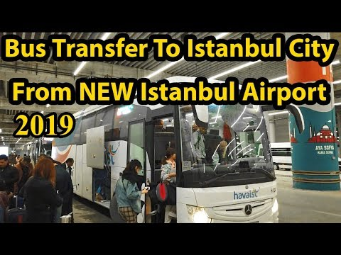 Bus From NEW Istanbul Airport To Taksim Square