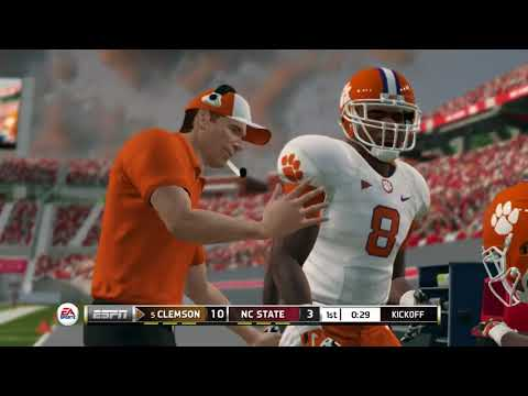 NCAA Football 14 Season 2017 2018 Clemson Tigers vs NC State Wolfpack
