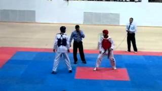 Repeat youtube video world cahmpion Ahmad abu ghaush taekwondo -63 kg  (RED) VS majd asfoor