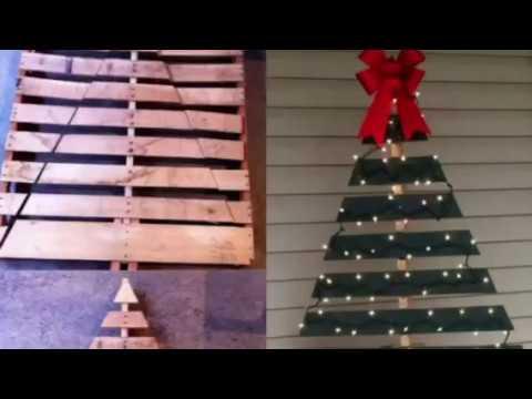 f2bc02c13a9 ÁRBOLES DE NAVIDAD CON PALETAS DE MADERA  PALLETS CHRISTMAS TREE +20 IDEAS
