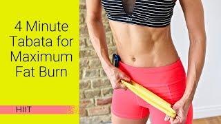 4 Minute Tabata Workout for Maximum Fat Burn