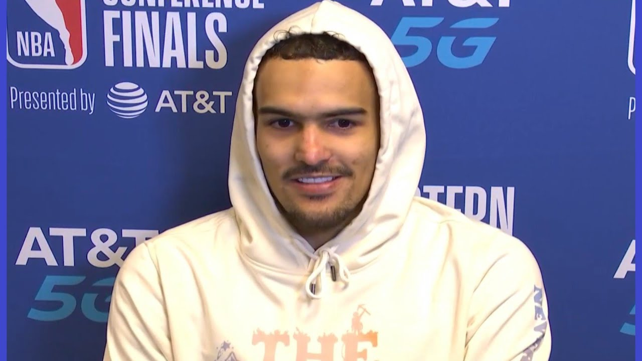 Trae Young trolls Bucks when talking about his shimmy 3 in game 1!