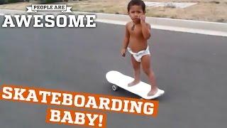Incredible skateboarding baby!