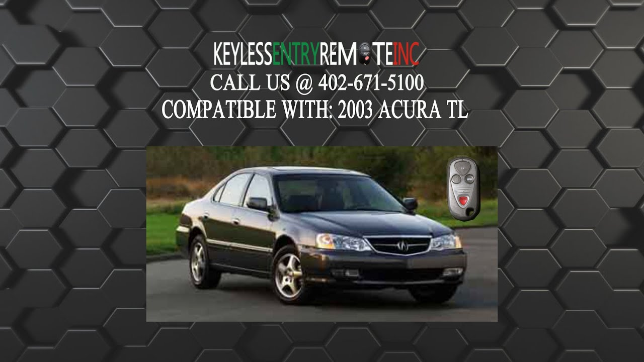 hight resolution of how to replace acura tl key fob battery 2003