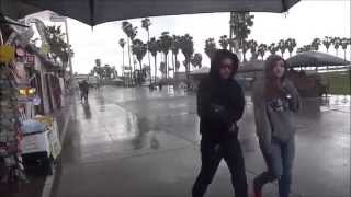 Raining Cats And Dogs Venice Beach Calif March