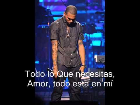 Chris Brown - I wanna be traducida al español