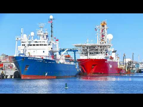 New Bedford and OCEAN RESEARCHER and FUGRO EXPLORER