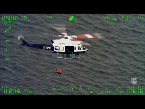 NYPD Air Sea Rescue Team Saves Stranded Jet Skier