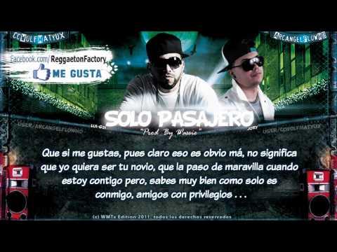 "Lui-G 21 Plus Ft Jory - ""Solo Pasajero"" con Letra ★New Romantic Reggaeton 2011 / 2012★"