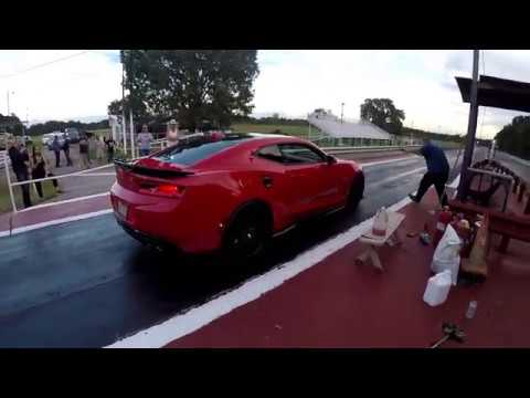 Fireball Camaro unprepped practice Sallisaw Outlaw Dragstrip